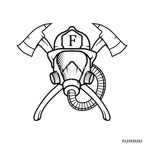 500x500 Firefighter. Firefighter Logo. Firefighter Silhouette. Firefighter