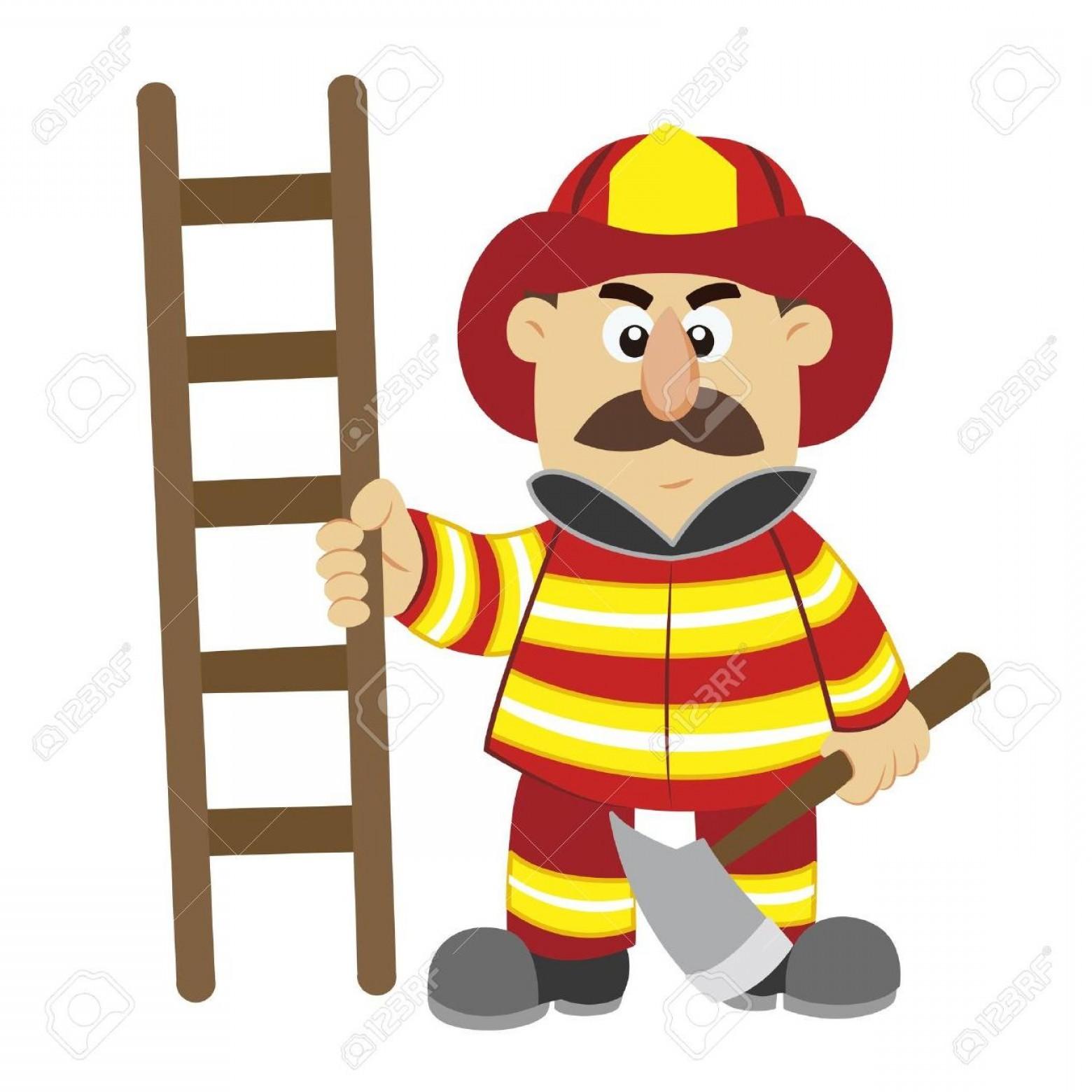 1560x1560 Best Free An Illustration Of Cartoon Fireman Vector Stock