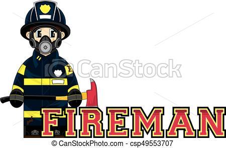 450x294 Cute Cartoon Fireman