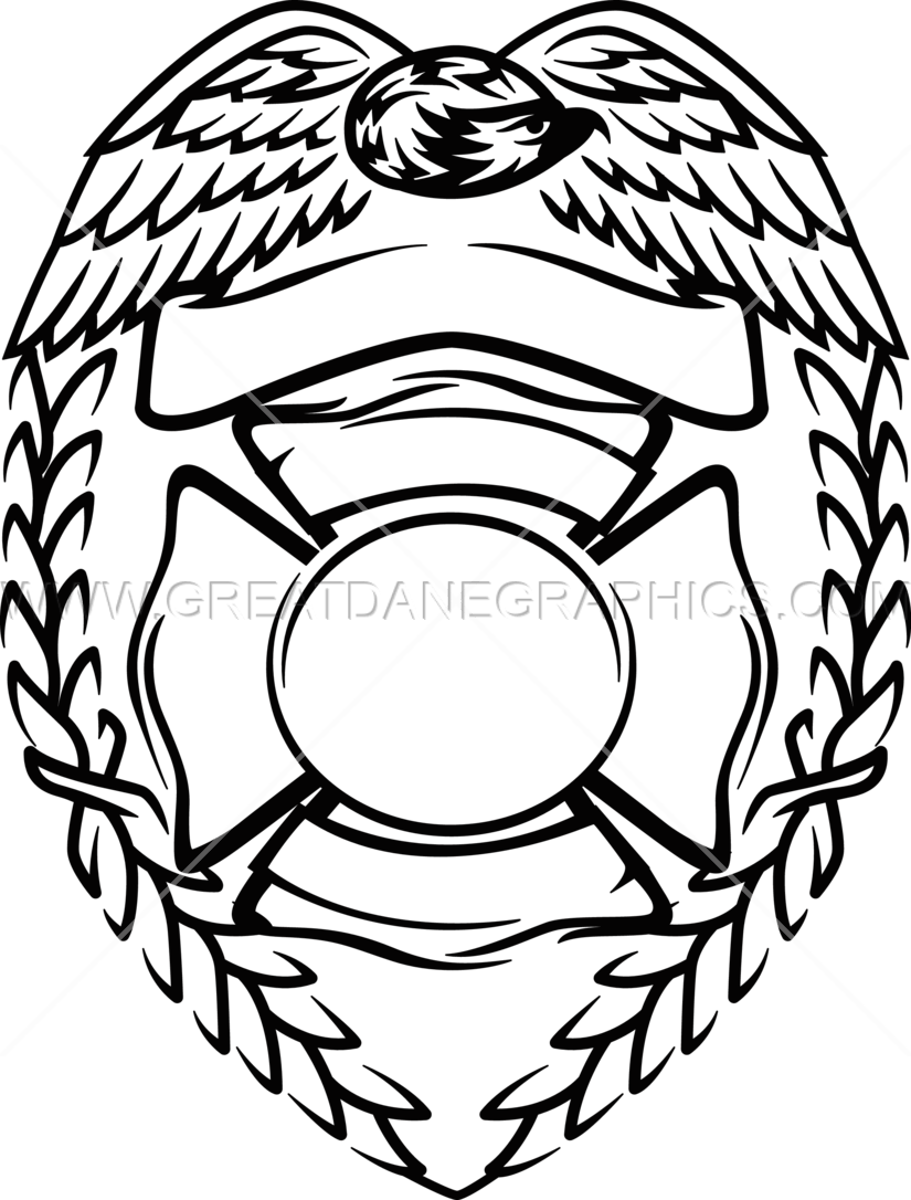 Fireman Badge Vector
