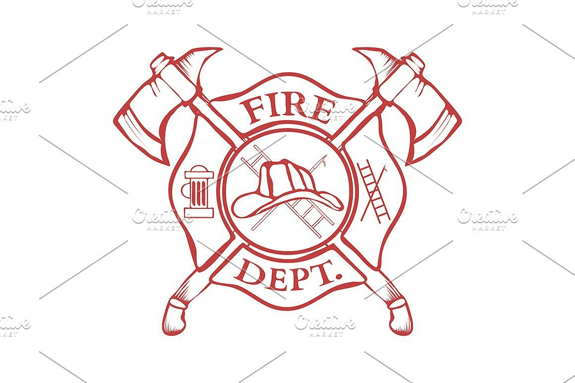 1160x772 Fire Dept. Label. Helmet With Axes Fire Firefighter Department