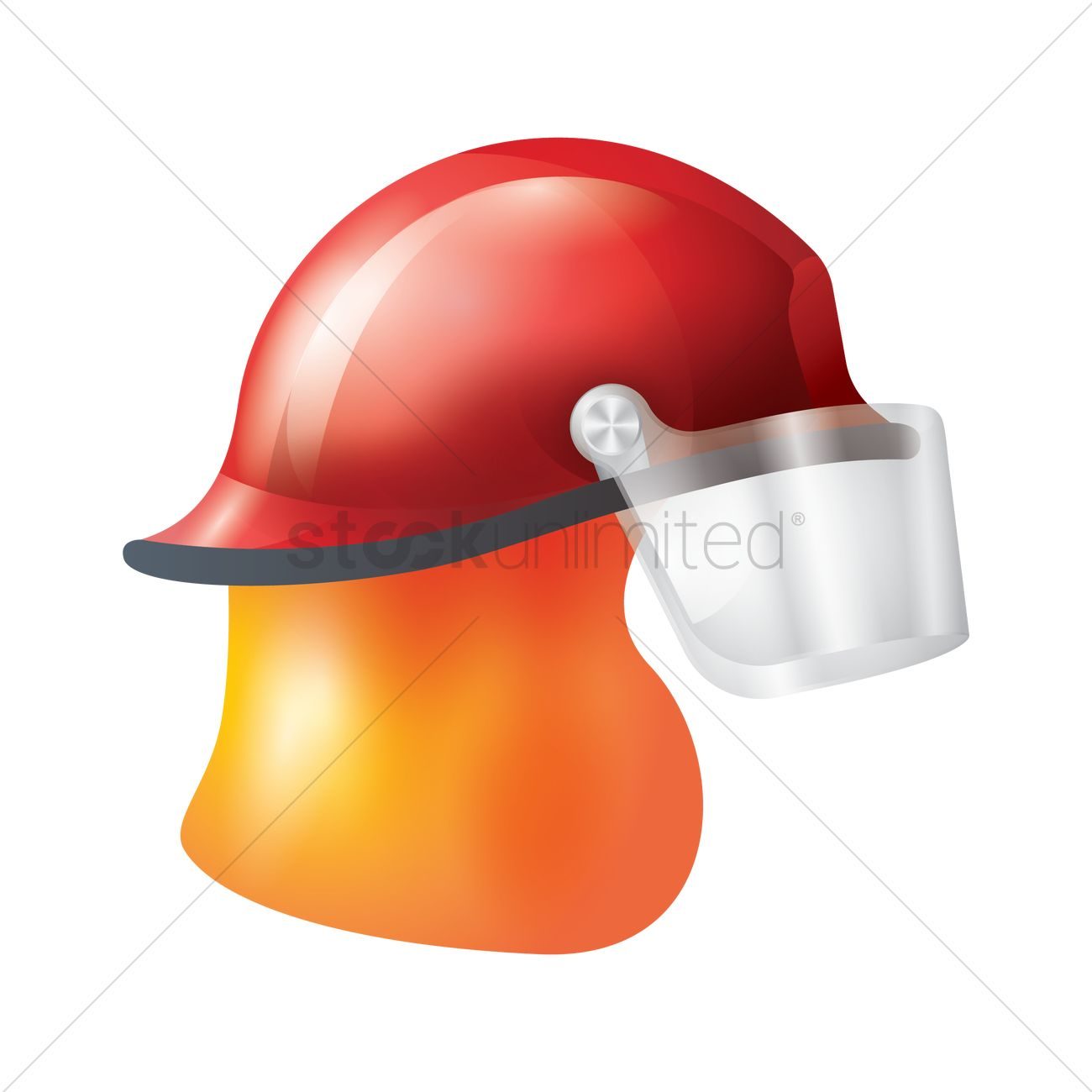 1300x1300 Fireman Hat Vector Image