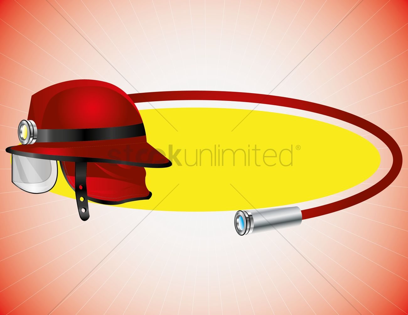1300x1005 Fireman Hat And Booster Hose Vector Image