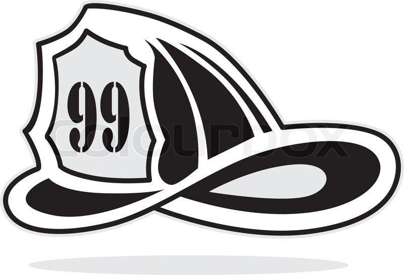 800x545 Fireman Helmet, Vector Illustration Stock Vector Colourbox