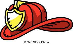 300x183 Illustration Of A Firefighter Helmet Or Fireman Hat. Vector