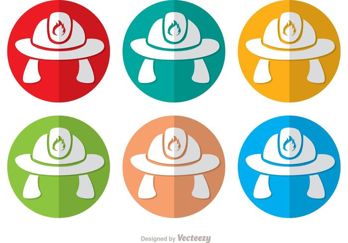 700x490 Colorful Fireman Hat Icon Vectors Pack