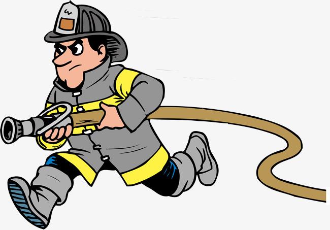 650x453 Fireman Png Vector Element, Fireman Vector, Run, Cartoon Png And