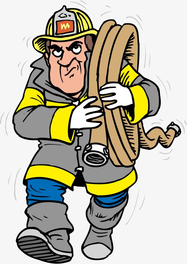 650x915 Fireman Png Vector Element, Fireman Vector, Water Pipes, Fire