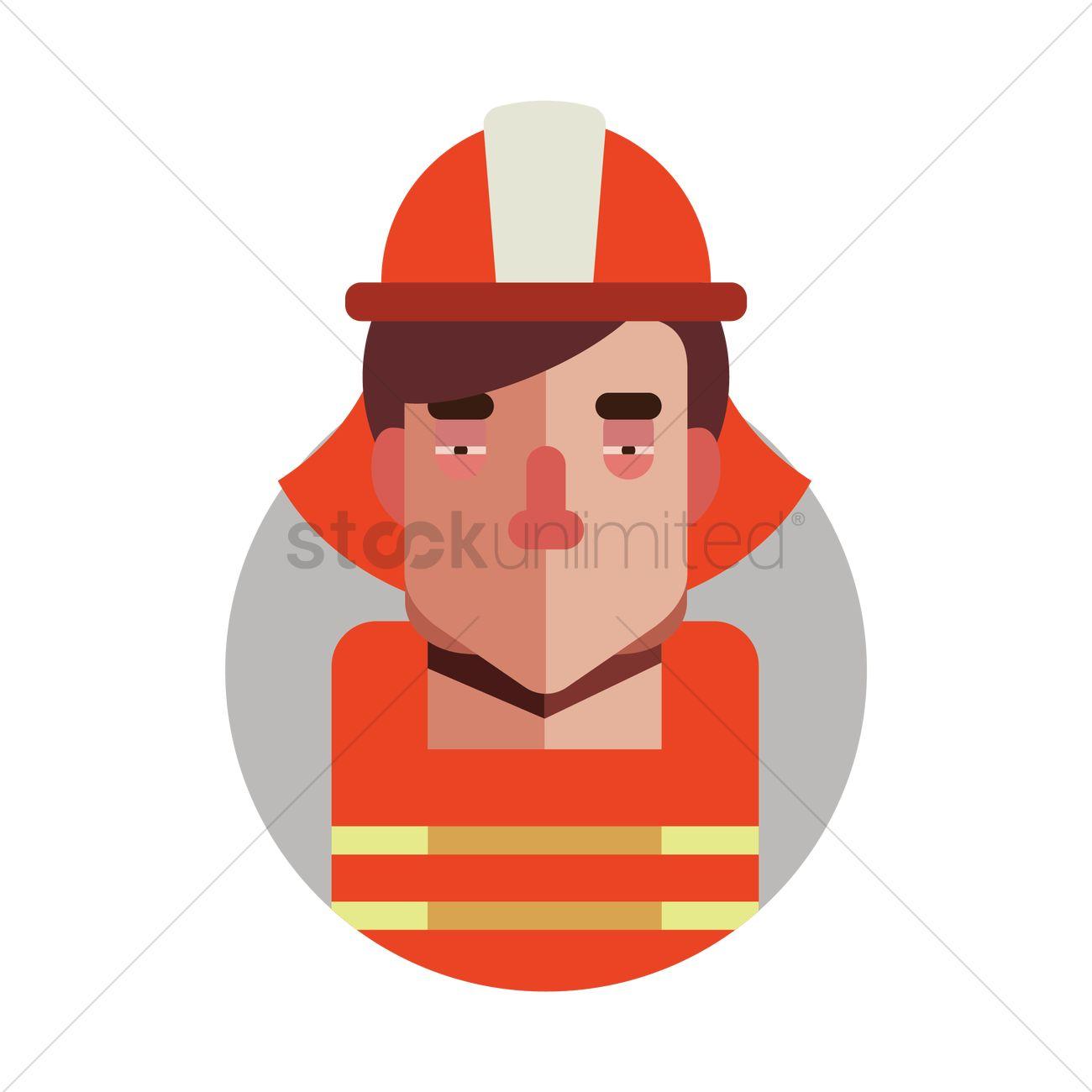 1300x1300 Fireman Vector Image