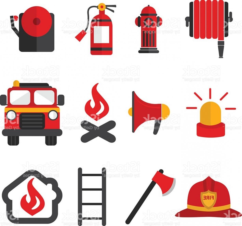 1228x1147 Fireman Vector Set Of Firefighting Equipment Gm Shopatcloth