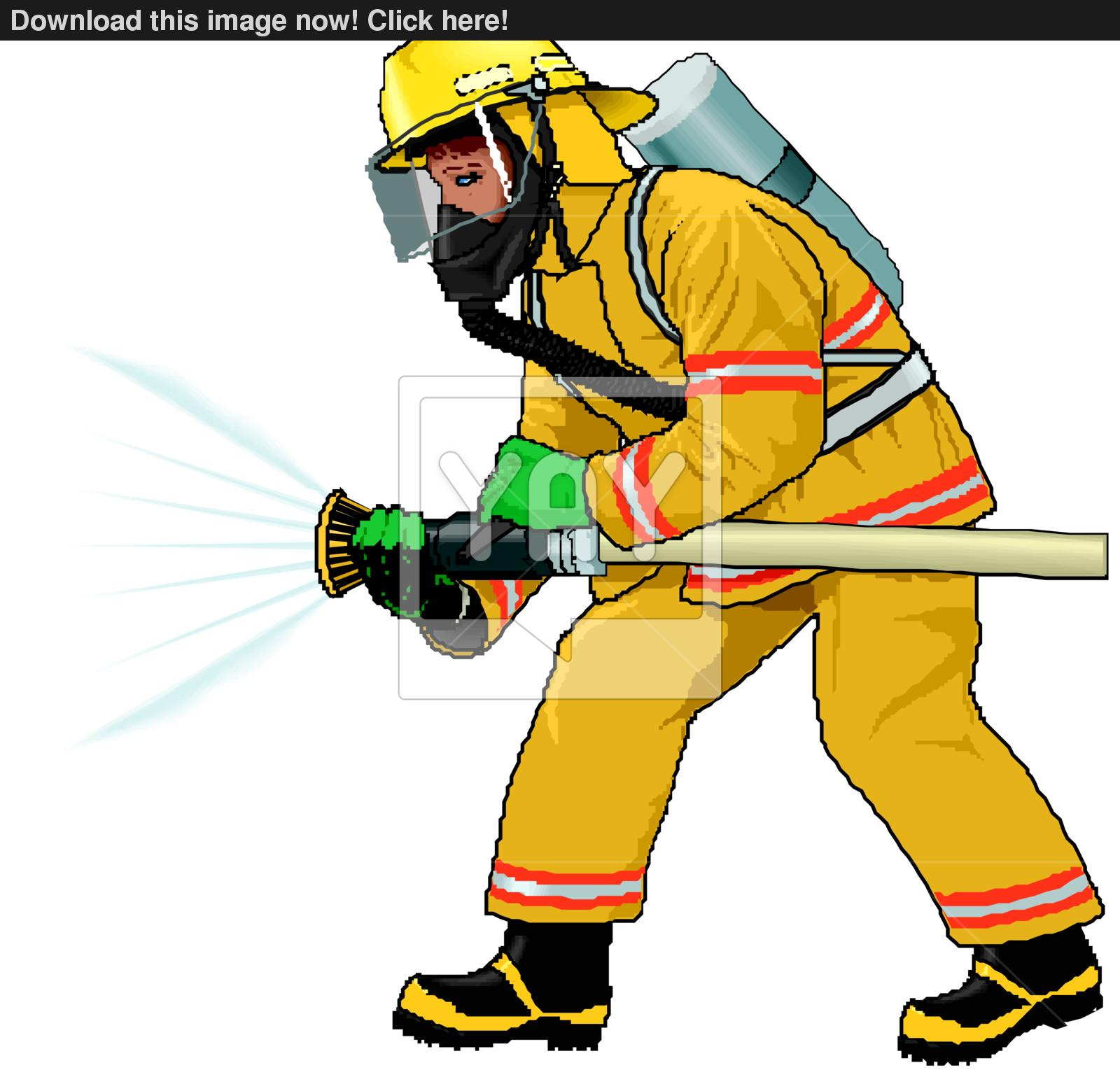 1600x1539 Fireman Vector