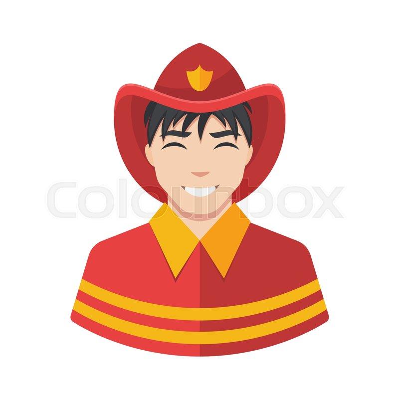 800x800 Fireman Vector Icon. Illustration Of Fireman Icon In Uniform
