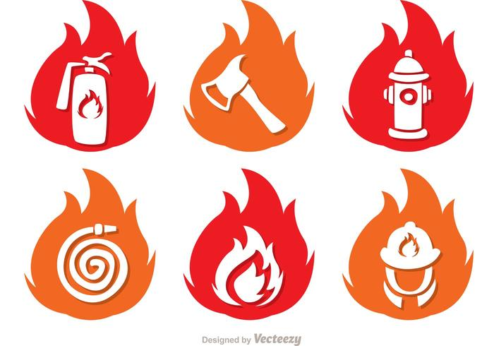 700x490 Flame Icons Fireman Vector Pack