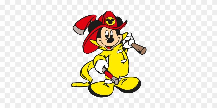 840x419 Mickey Mouse Fireman Vector