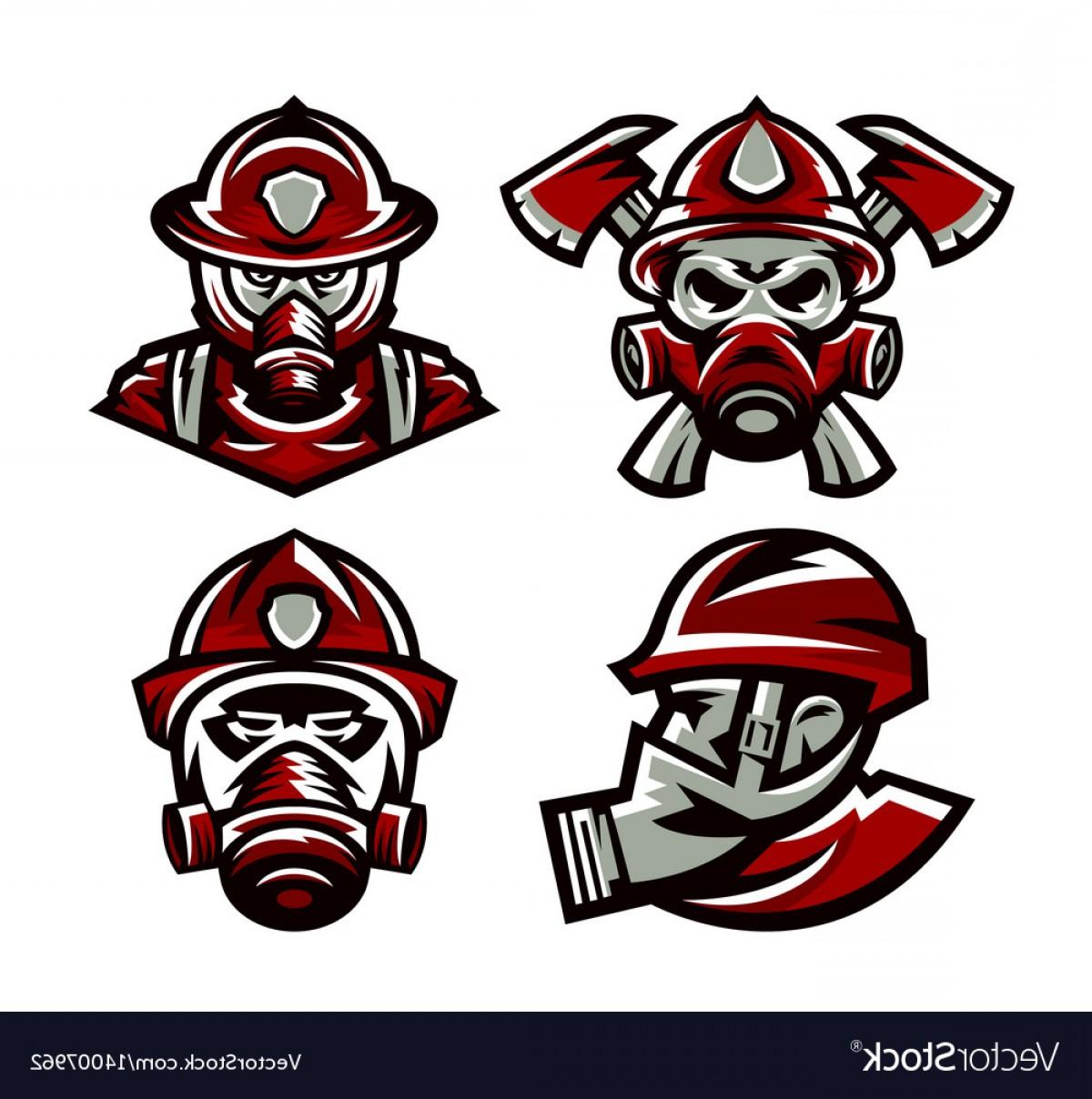 1200x1208 Set Of Colorful Logos Fire Department Fireman Vector Sohadacouri