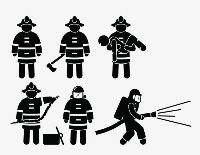 650x506 Vector Character Material, Firemen, Vector Fireman, Character Png