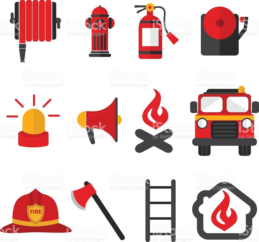 1024x956 Clipart Firefighters Equipment Fireman Vector Set Of Firefighting