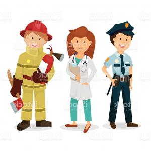 300x300 Emergency Service A Police Officer Doctor Fireman Vector Gm