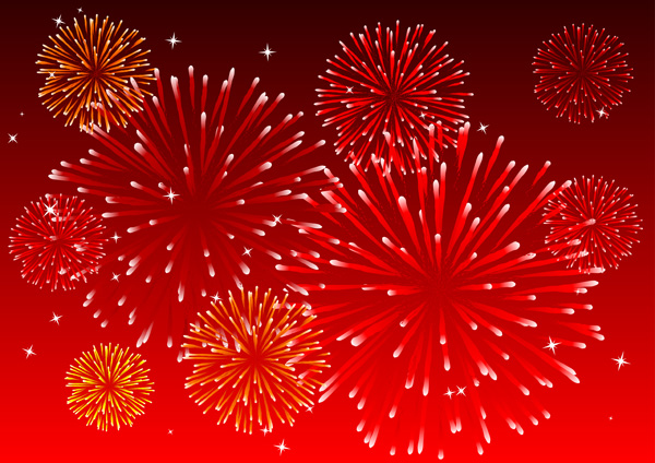 Fireworks Vector Free Download