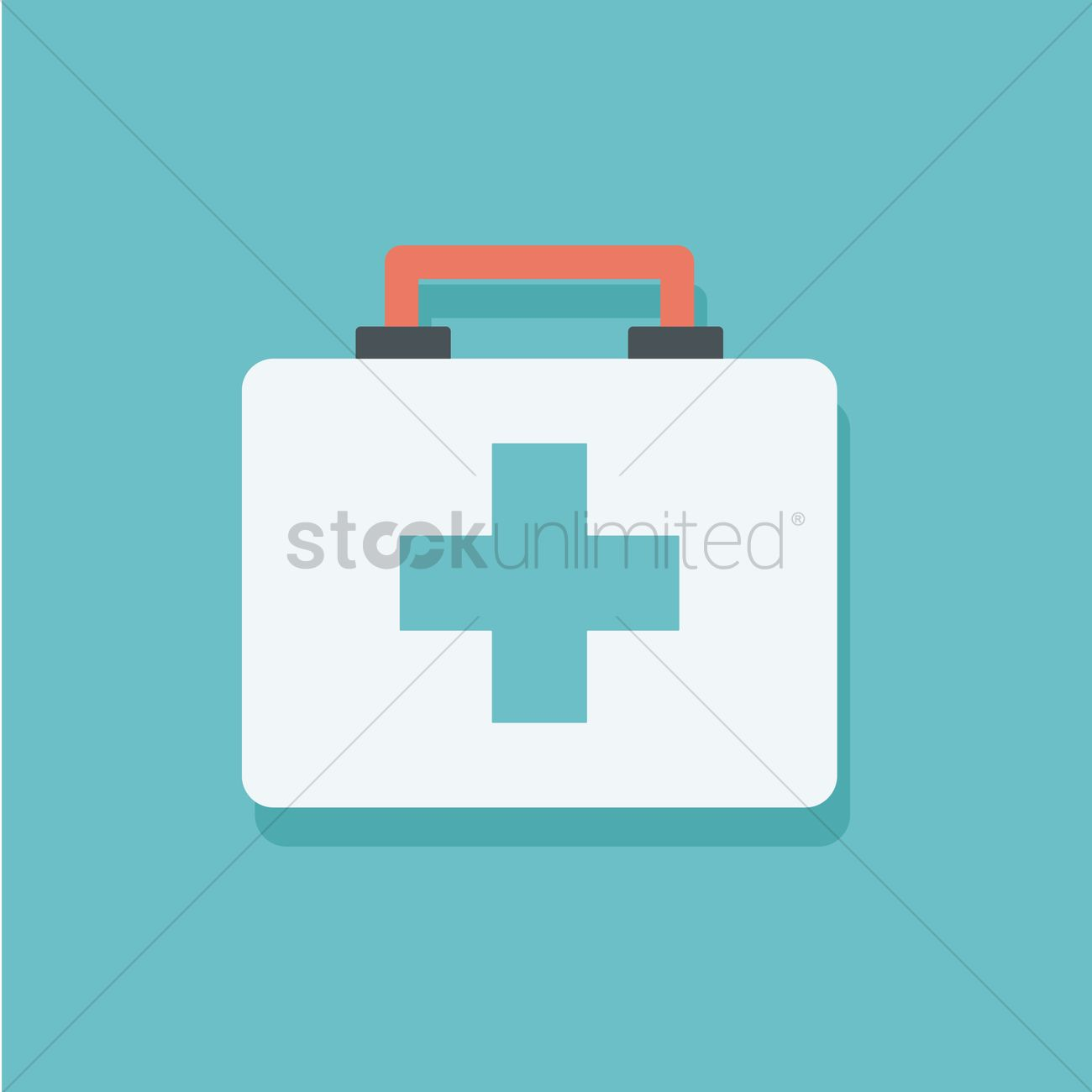 1300x1300 First Aid Box Vector Image