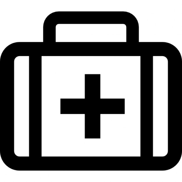 626x626 First Aid Kit Bag With Cross Sign Icons Free Download