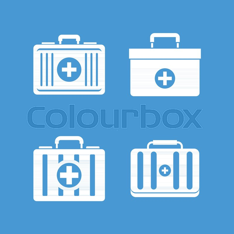 800x800 First Aid Kit Icon Set. Simple Set Of First Aid Kit Vector Icons
