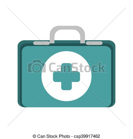 450x470 First Aid Kit Suitcase Healthcare Equipment Vector... Clip Art