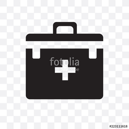 500x500 First Aid Kit Vector Icon Isolated On Transparent Background