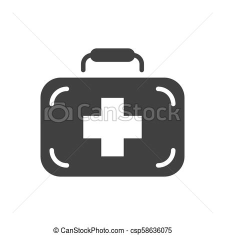 450x470 First Aid Kit Vector Icon. First Aid Kit Glyph Vector Icon