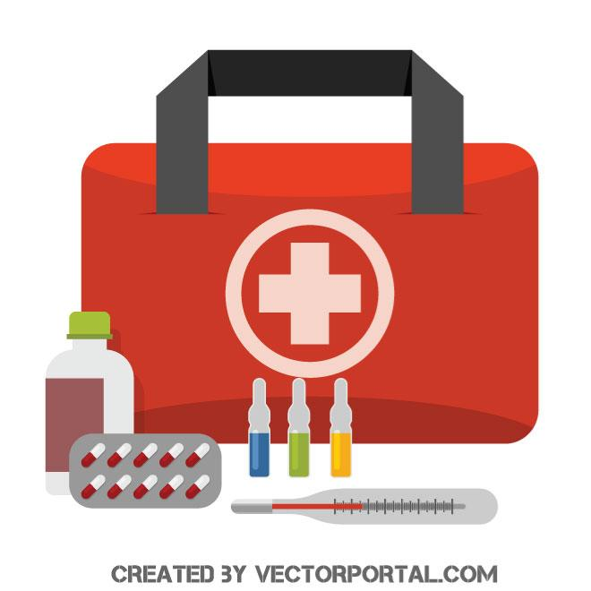 660x660 First Aid Kit Vector Image