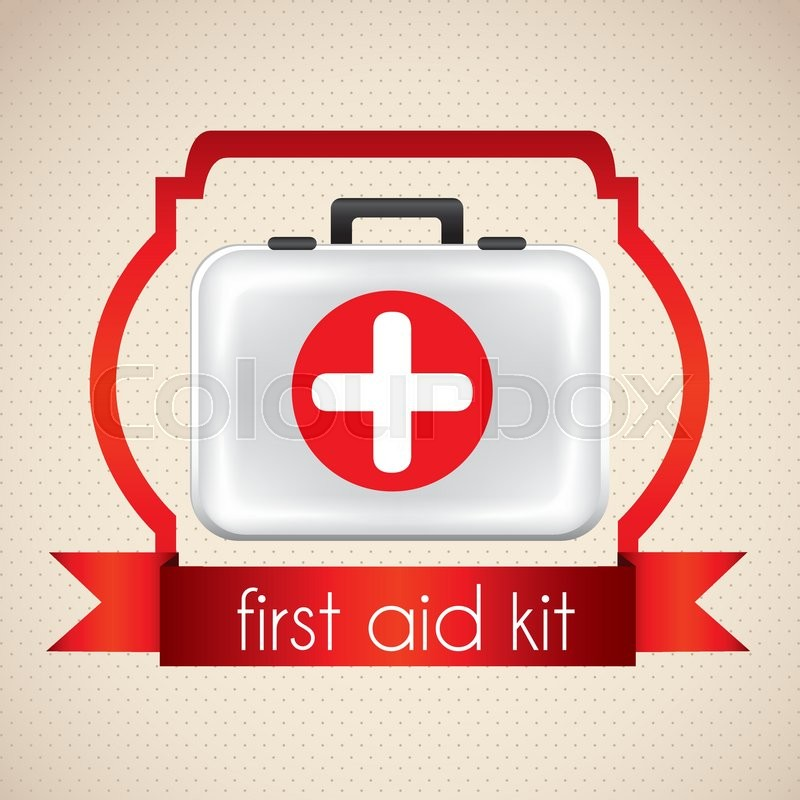 800x800 Icon Illustration Of Medicine, With First Aid Kit, Vector