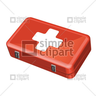 400x400 Red First Aid Kit Vector Image