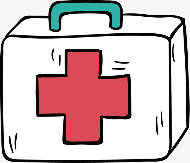 650x557 Vector Hand Painted First Aid Kit, First Aid Kit, Vector Diagram