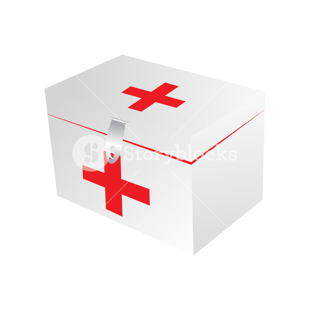 1000x1000 Vector Isolated First Aid Kit On Background Royalty Free Stock