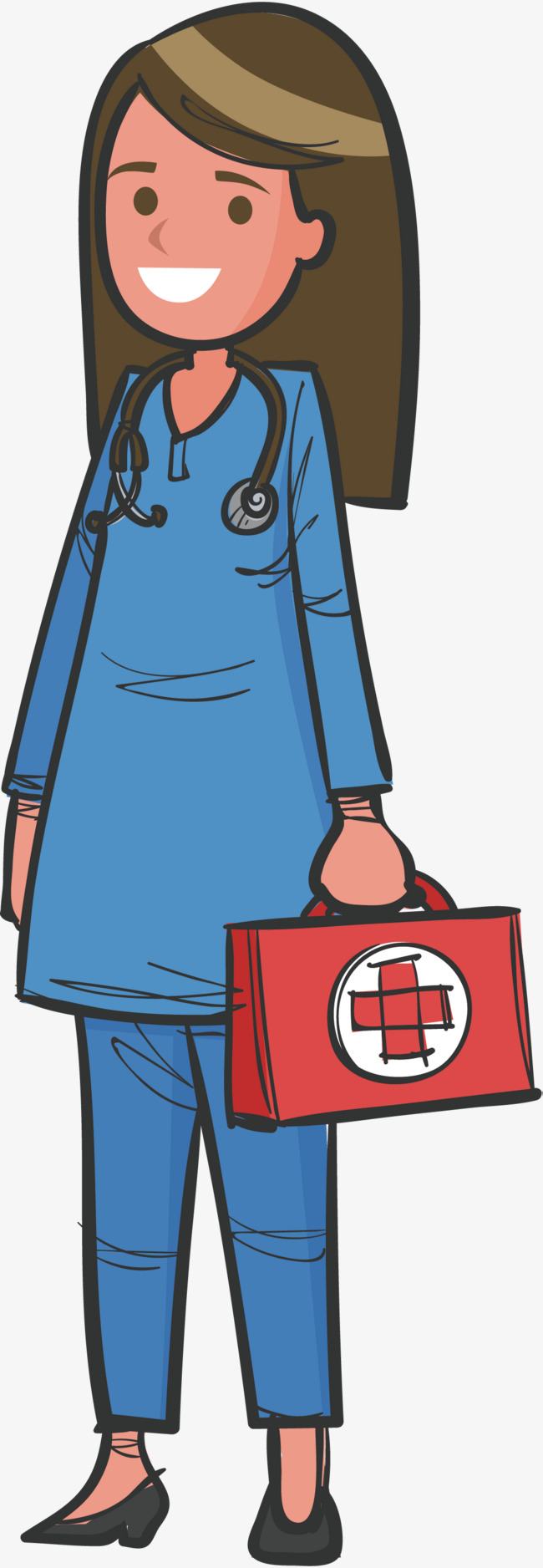 650x1876 A Doctor Who Performs First Aid, Doctor Vector, Vector Png, First