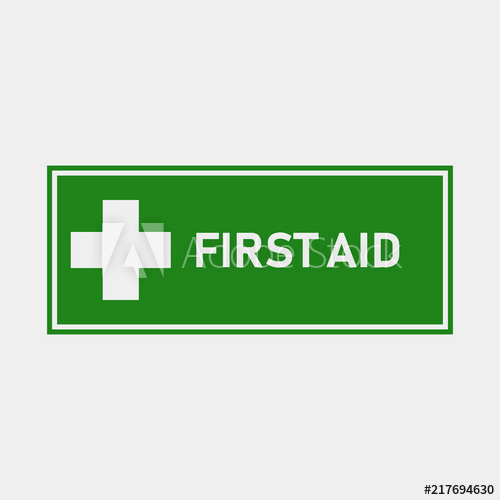 500x500 First Aid Vector Icon. Symbol Of The Place Of First Aid. Layers