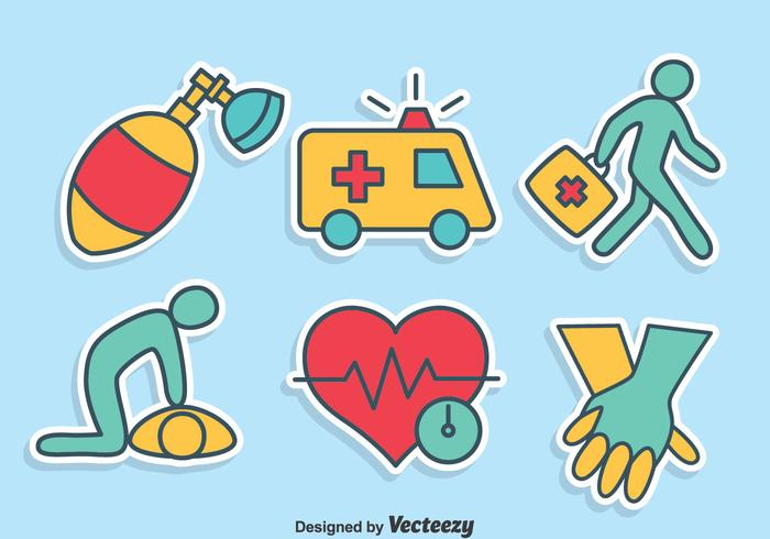 700x490 Hand Drawn First Aid Icons Vector Set