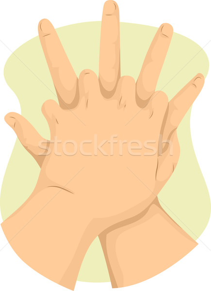435x600 Hand First Aid Vector Illustration Lenm ( 6432948) Stockfresh
