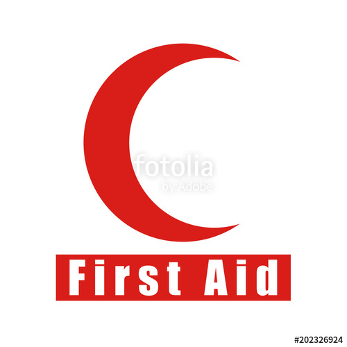 500x500 First Aid Vector Icon Moon Icon For App And Website Stock Image