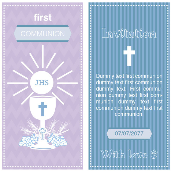 572x572 First Communion Invitation Vector Free Vector Download In .ai