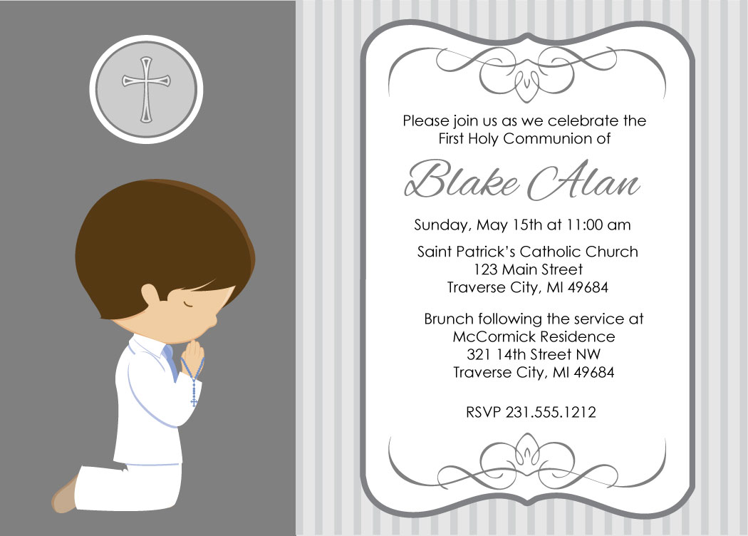 1050x752 First Communion Invitations For Boys