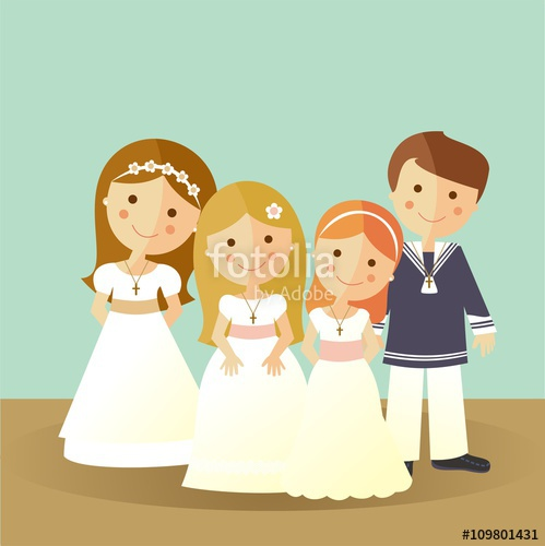 499x500 First Communion Children Stock Image And Royalty Free Vector