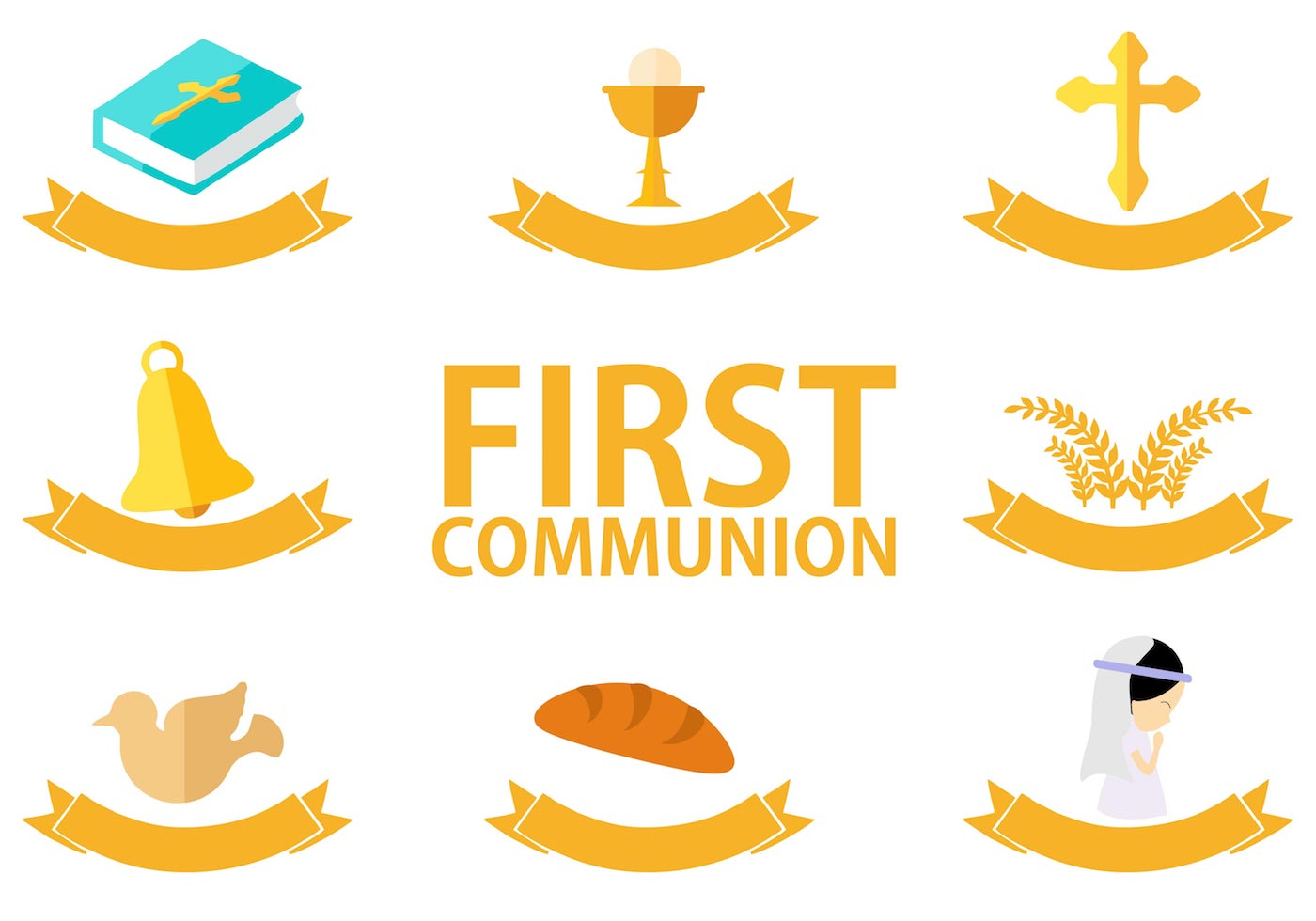 1400x980 First Holy Communion Free Vector Art