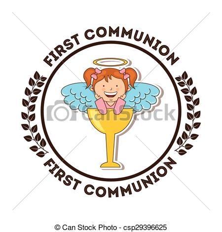 450x470 First Communion Design, Vector Illustration Eps10 Graphic Vector