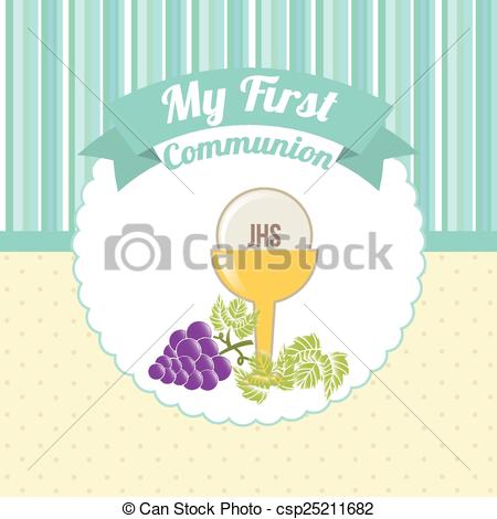 450x470 My First Communion Design, Vector Illustration Eps10 Graphic