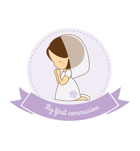 570x617 First Communion Girl Vector By Paperit22 On Etsy In 2018