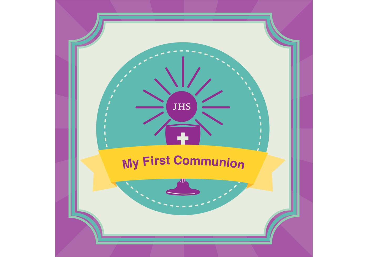 1400x980 First Communion Free Vector Art