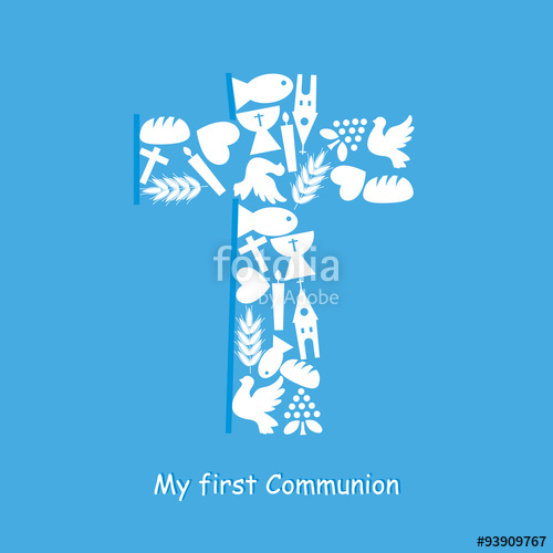 500x500 First Communion Invitation Card Stock Image And Royalty Free