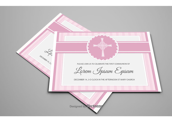 572x407 First Communion Card Vector Free Vector Download In .ai, .eps