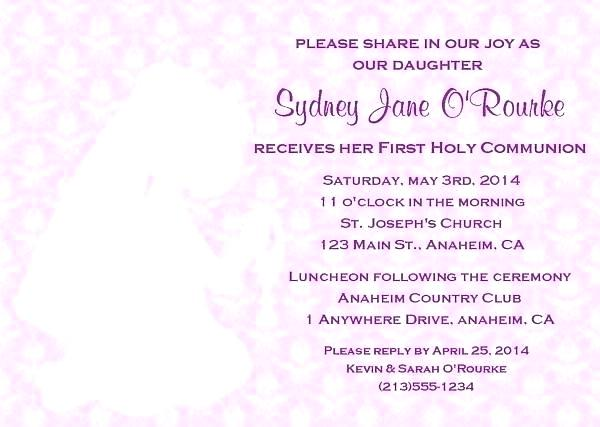 600x427 First Communion Invitation Cards With First Holy Communion